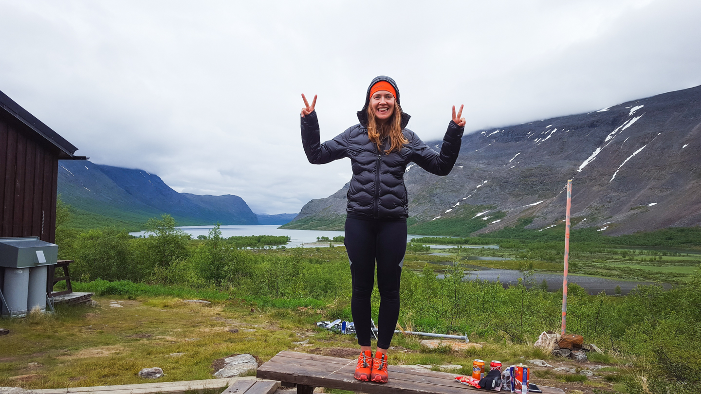 Happy runner - trail running kungsleden - Photo © Amanda Matti