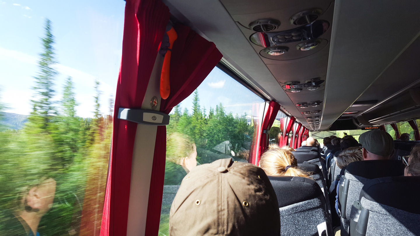 bus 93 to vakkotavaare - swedish lapland - Photo © Amanda Matti