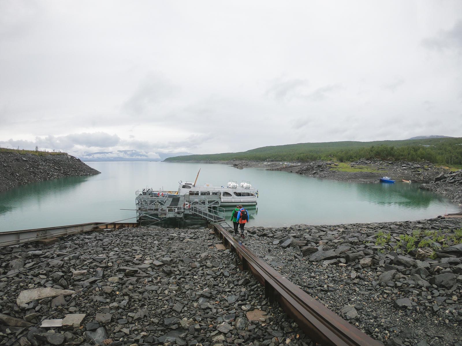 Båten MS Storlule i Ritsem